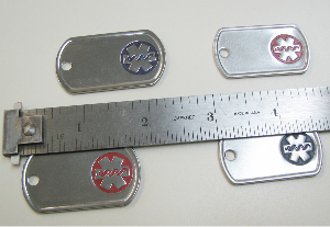 Painted Stainless Steel Medical Dog Tags